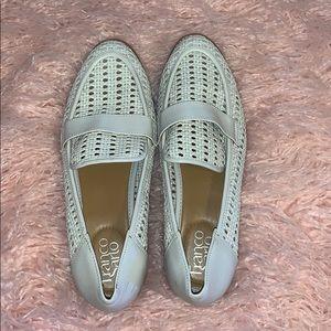 Franco Sarto White Woven Loafer